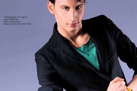 salah ghribi fashion model